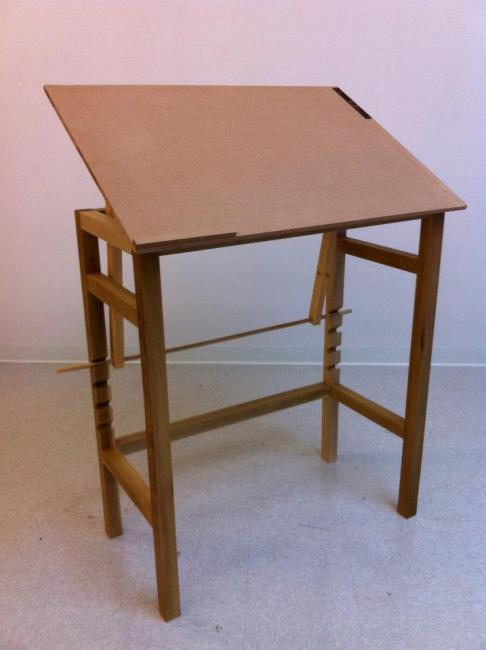 Finished Drafting Table (front)