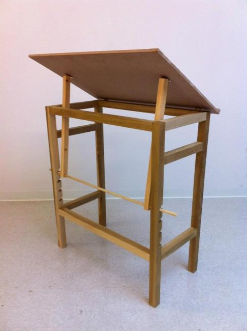 Finished Drafting Table (back)
